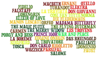Operas Word Cloud Design