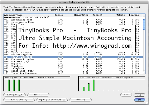 Simple, non-bloated small business accounting program for the Macintosh.